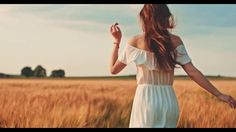 beautiful girl running on sunlit wheat field slow motion 120 fps freedom concept happy woman having Girl Running, Running Women, Wheat Fields, Happy Women, Blue Aesthetic, Carolina Blue, Photography Women, Inner Peace, Health And Wellness
