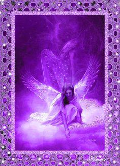 gif ange violet · The darkness purple Art Violet, Purple Art, Purple Love, All Things Purple, Shades Of Purple, Periwinkle, Purple Stuff, Purple Glass, Angel Images
