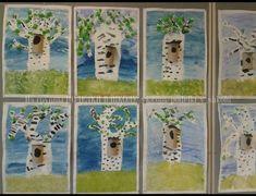 Wall Spring Art, Summer Art, Summer Crafts For Kids, Art For Kids, Primary School Art, 2nd Grade Art, Art Lessons Elementary, Art Lesson Plans, Art Classroom