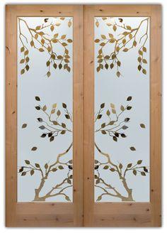 closet doors doors hand crafted cherry trees interior glass doors