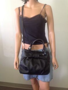 Elle Black Hand Shoulder Bag Designer Fashion Bow Hot Stylish
