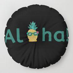 Aloha Hawaii Pineapple Summer Vibes Beach Paradise Chill Time Floor Pillow by Aloha Hawaii, Floor Pillows, Summer Vibes, Pineapple, Chill, Paradise, Cool Stuff, Decoration, Beach