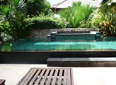 jacuzzi/hot tub and landscaping