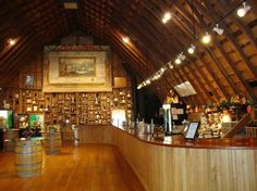 Huber's Orchard & Winery: Wine Tasting Loft Bar. What I wouldn't give to have a trip there for fall Spiced Apple Wine....I miss ky