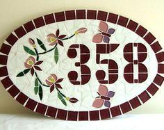 Numero mosaico Oval Médio