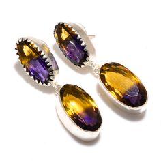 Dangle Earrings – Ametrine Dangle 925 Silver Handmade Earrings  – a unique product by 925silvercollection on DaWanda