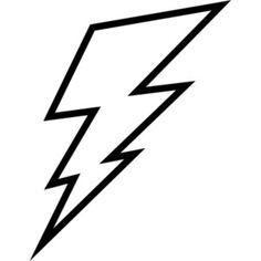 Lightning Bolt Outline Clip Art - Polyvore
