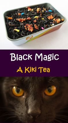 Black Magic Tea from Kiki's Delivery Service: Chocolate and Strawberry Tea with Strawberry Pieces and Sprinkle Inclusion. One of my custom teas from Adagio!