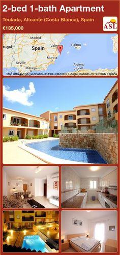 2-bed 1-bath Apartment in Teulada, Alicante (Costa Blanca), Spain ►€135,000 #PropertyForSaleInSpain