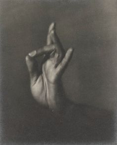 Helen Pierce Breaker - India Ramosay's Hand, 1935. mounted, titled in pencil and with the photographer's monogram and date in red ink on the mount, annotated in pencil on the reverse, framed, Buhl Collection and Guggenheim Museum.