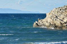 Sea Waves & Rocks by QueenDesigns on @creativemarket