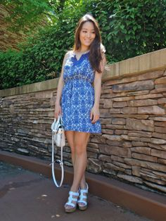 Spotted blogger @Sensible Stylista in a cute summer #OOTD featuring a Charlotte Russe skater dress! See more on her blog - Sensible Stylista: Every Teardrop is a Waterfall