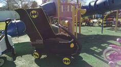My son's Mardi Gras Batman wagon