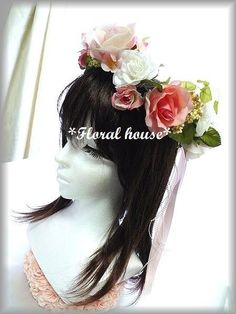 Floral houseオリジナル ヘッドドレスアーティフィシャルフラワー(造花)でヘッドドレス 花冠を作りました。2種類の薔薇をたくさん使用しています。か... ハンドメイド、手作り、手仕事品の通販・販売・購入ならCreema。