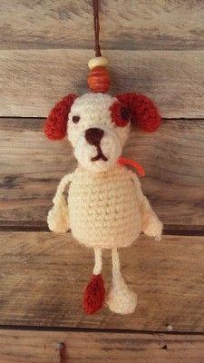 dog keychain, keyring, Animaux et porte clés keychain - AmiguruMINE ! Mes Amigurumis crochet