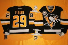 Marc-Andre Fleury New Home Pittsburgh Penguins Reebok Hockey Jersey 50th Patch #Reebok #PittsburghPenguins