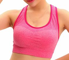 XQS Women Zipper Front Closure Easy On Sports Bra for Large Busts No Padding High Support No Bounce Bra