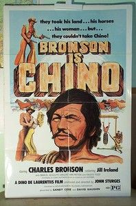 """Chino"" Original Movie Poster 1973 - folded - Charles Bronson   For Sale - please visit my web site"
