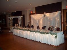 decorating with white christmas lights sheer fabric lacoste ling wedding wedding projects head table