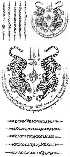 Temporary Body Art Thai Tiger Tattoos Mania Sticker Beauty X 3 Piece
