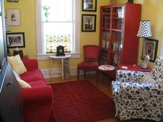 Our beautiful therapist's office. I would just add a desk and chair behind the loveseat. Office Decor, Therapy Office Decor, Therapist Office Decor Private Practice, New Living Room, Living Room Office, Therapist Office Decor, Office Interior Design, Therapy Room, Office Design