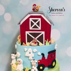 Barnyard Cake, Farm Cake, Chicken Cake, Chicken Chick, Farm Birthday, Birthday Cake, Cake Show, Farm Theme, Unique Cakes