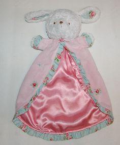 Carters Bunny Rabbit Garden Party Flowers Pink Lovey Security Blanket Baby #Carters