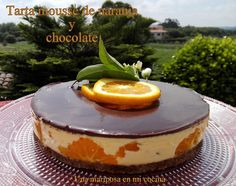 Una mariposa en mi cocina: Tarta mousse de naranja y chocolate