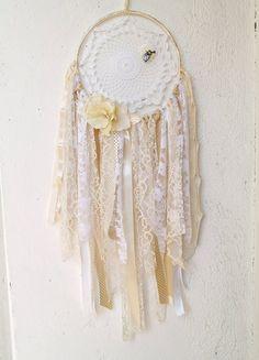 Cream White Lace Dream CatcherCrochet/Boho by MyFlowerAccessories