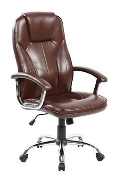 Anji High Back Big and Tall Pu Leather Ergonomic Executive Office Desk Chair with Arms and Lumbar Support, Brown