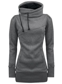 Newchic provides you with all styles of hoodie sweatshirts. Black pullover hoodie, hooded sweatshirts, crew neck sweatshirts, and crop hoodie for women are hot-sale Mobile. Hoodie Sweatshirts, Pullover Shirt, Sweat Shirt, Long Hoodie, Grey Hoodie, Sweater Hoodie, Grey Sweater, Look Fashion, Winter Fashion