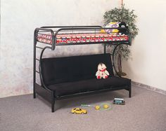 C-Style Bunk bed. With its simple design this bunk bed will fit into any bedroom setting. Features: Durable construction. Stylish and practical furniture design. 2″ Steel Tube Twin/Futon Bunkbed Welded Slat-System For Mattress Support Easy Assembly Dimensions: 64 1/4″H x 42″W x 78 3/4″L Mattresses Sold Separately Some assembly may [...]