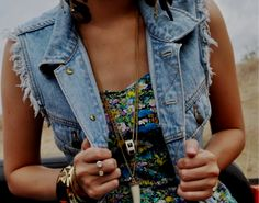 You can rock a jean vest with almost anything