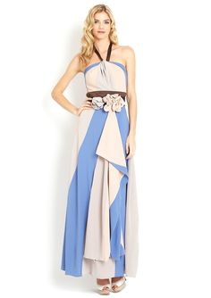 RYU  Halter Maxi Dress with Flower Detail