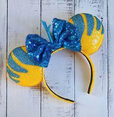 Flounder Little Mermaid Inspired Ears Etsy Disney Diy, Walt Disney, Diy Disney Ears, Disney Crafts, Cute Disney, Disney Style, Disney Ears Headband, Disney Headbands, Ear Headbands