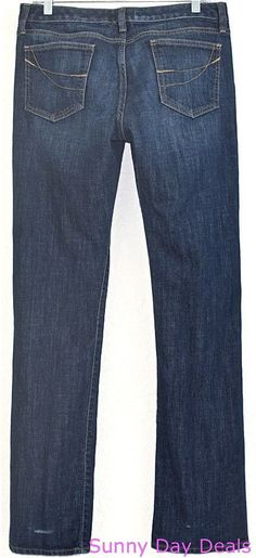 GAP Womens Jeans Curvy Straight Cotton Stretch Denim 1969 Blue Dark 10 30L  #GAP #StraightLeg