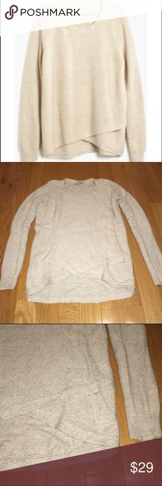 Madewell feature sweater XXS Madewell feature pullover sweater in marled flax color. Size XXS. Worn once Madewell Sweaters Crew & Scoop Necks