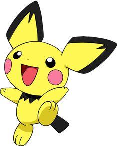 Pichu Pikachu Raichu, Pokemon Pokedex, Cute Pikachu, Cute Pokemon, Pokemon Go, Pokemon Channel, Baby Pokemon, Cartoon Video Games