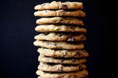 Dark Chocolate Pistachio Sea Salt Cookies. http://joythebaker.com/2012/08/dark-chocolate-pistachio-smoked-sea-salt-cookies/