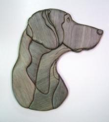 stained glass dog patterns - Weimaraner