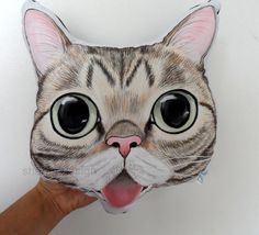 Woww superrr cuteee Custom Lil Bub Cat Portrait  Plush Pillow  lil bub by ShebboDesign