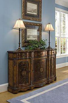 for study?  Pulaski Furniture Rustic Chic Credenza in Crete 625222