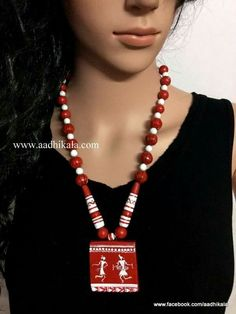 Trendy fashion – Hobbies paining body for kids and adult Terracotta Jewellery Making, Terracotta Jewellery Designs, Ceramic Jewelry, Clay Jewelry, Beaded Jewelry, Fancy Jewellery, Thread Jewellery, Diy Necklace, Diy Earrings