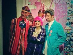Zandra Rhodes, Andrew Logan, and Duggie Fields at the Zandra Rhodes - Unseen Private Viewing