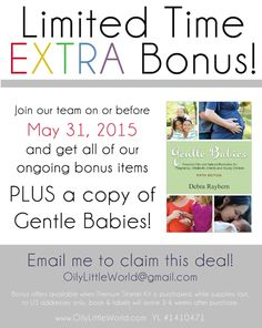Limited Time Bonus Offer Gentle Babies plus MORE!