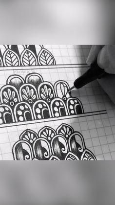Zen Doodle Patterns, Doodle Art Designs, Mandala Pattern, Zentangle Patterns, Zentangles, Mandala Art Therapy, Mandala Art Lesson, Mandala Artwork, Mandala Painting