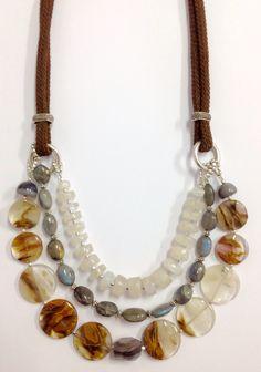 Collar de Labradorita y piedra luna Hiperstone.com