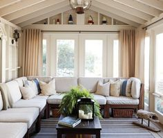 Photo Gallery: Traditional Cottages | House & Home..blue, white and sand sitting room...