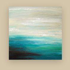 Playa Marina Original arte abstracto pintura acrílica sobre
