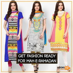 Ramadan, the holy month in Islam is about to come and with that the time for prayers, preaching, devotion and most loved iftar parties is also arriving. #GetFashionReady Check it out- http://goo.gl/DLwA2h